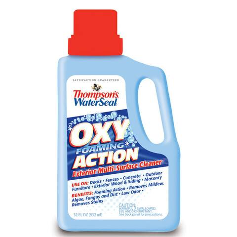 Thompsons Waterseal 87731 32 Oz Oxy Foaming Action Exterior Multi Surface Cleaner
