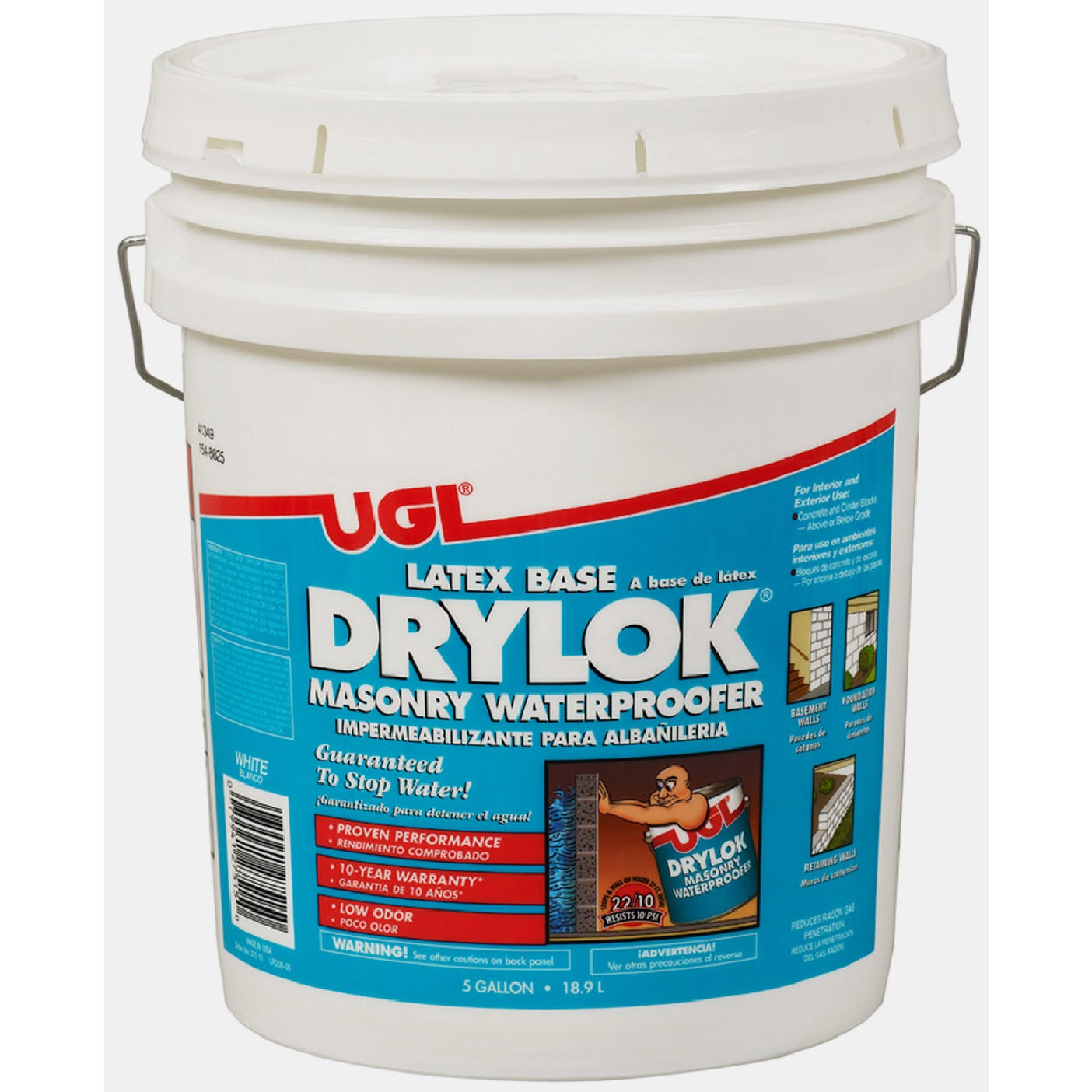 United Gilsonite Laboratories 27515 5 Gallon White Latex ...