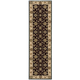 Nourison Persian Crown Black Area Rug (2'2 x 8'4)