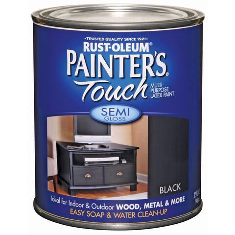 Painters Touch 1974-502 1 Quart Semi Gloss Black Painters Touch Multi-Purpose Paint