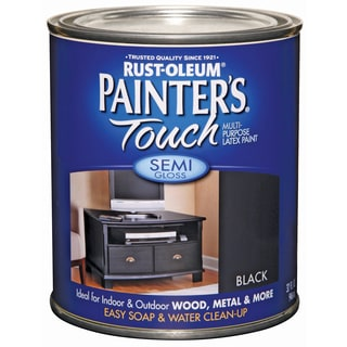 Painters Touch 1974-502 1 Quart Semi Gloss Black Painters Touch Multi-Purpose Paint