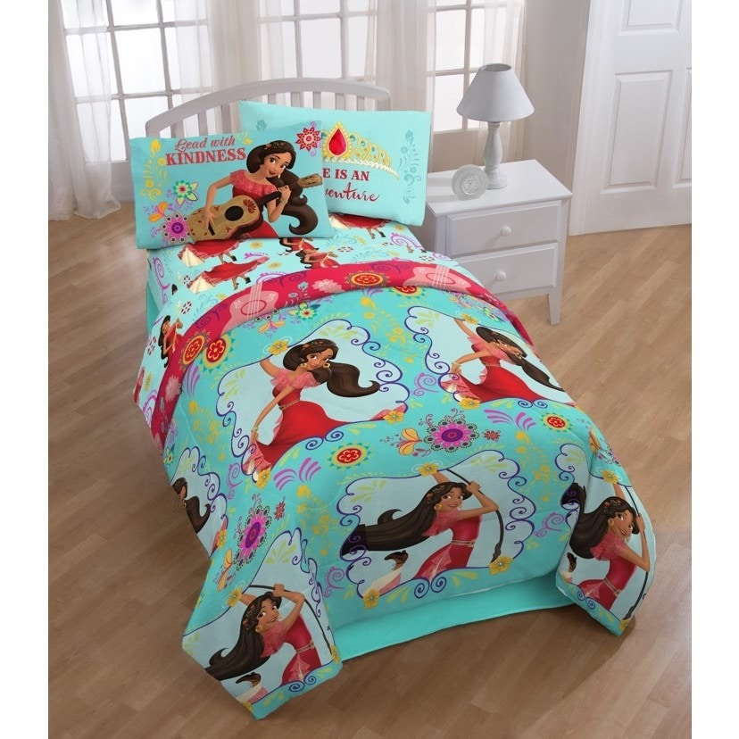 Disney Elena of Avalor Flower Power Twin 4-piece Bed in a...