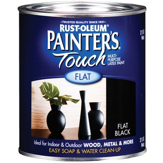 Painters Touch 1976-502 1 Quart Flat Black Painters Touch Multi-Purpose Paint