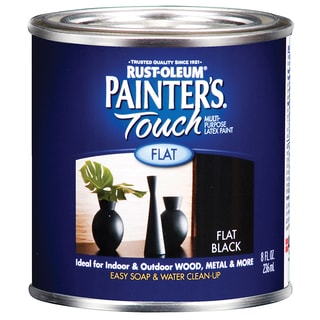 Painters Touch 1976-730 1/2 Pint Flat Black Painters Touch Multi-Purpose Paint