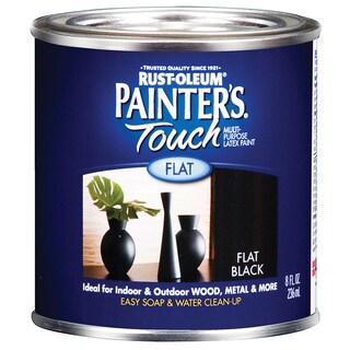 Painters Touch 1976-730 1/2 Pint Flat Black Painters Touch Multi-Purpose Paint