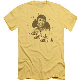 Grease/Brusha Brusha Brusha Short Sleeve Adult T-Shirt 30/1 in Banana