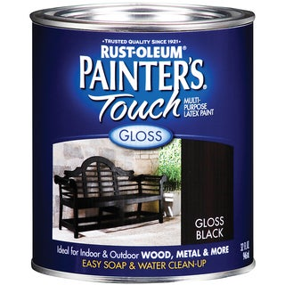 Painters Touch 1979-502 1 Quart Gloss Black Painters Touch Multi-Purpose Paint
