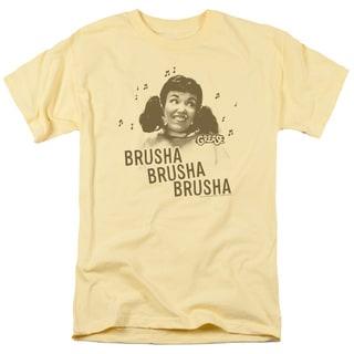 Grease/Brusha Brusha Brusha Short Sleeve Adult T-Shirt 18/1 in Banana