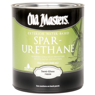 Varathane 250041h 1 quart gloss water based outdoor diamond wood finish 19246008 overstock for Zar exterior water based polyurethane