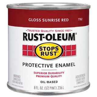 Rustoleum Stops Rust 7762-730 1/2 Pint Gloss Sunrise Red Oil Based Protective Enamel
