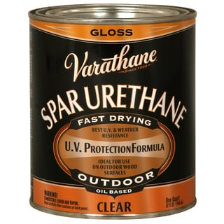 Varathane 242180H 1 Quart Crystal Clear Spar Urethane Exterior Oil Based Gloss