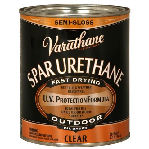 Varathane 242186H 1 Qt Crystal Clr Spar Urethane Exterior Oil Based Semi Gloss