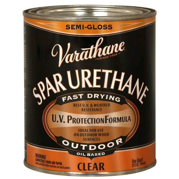 Shop Varathane 242186h 1 Qt Crystal Clr Spar Urethane Exterior Oil Based Semi Gloss Free