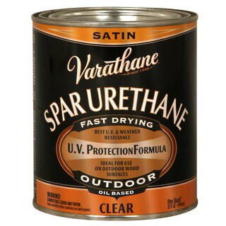 Varathane 242183H 1 Quart Crystal Clear Spar Urethane Exterior Oil Based Satin