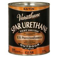 Varathane 242183H 1 Quart Crystal Clear Spar Urethane Exterior Oil Based Satin