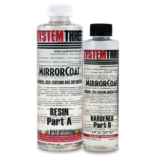 System Three 0500K40 1-1/2 Pt Clear MirrorCoat Kit 2-count