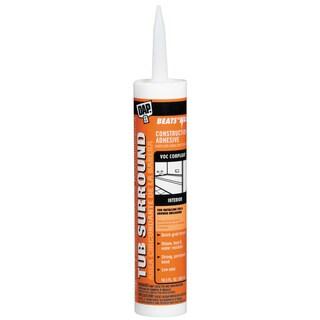 Dap 27420 10.3 Oz Clr VOC Tub Surround & Shower Wall Construction Adhesive