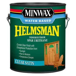 Minwax 71052 1 Gallon Satin Minwax Water Based Spar Urethane