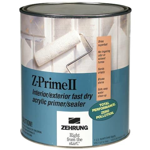 Zehrung 10404 Quart Z-Prime II Int/Extr Fast Dry Acrylic Primer/Sealer