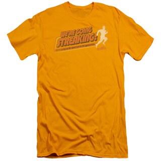Old Schoolong Sleevetreaking Short Sleeve Adult T-Shirt 30/1 in Gold