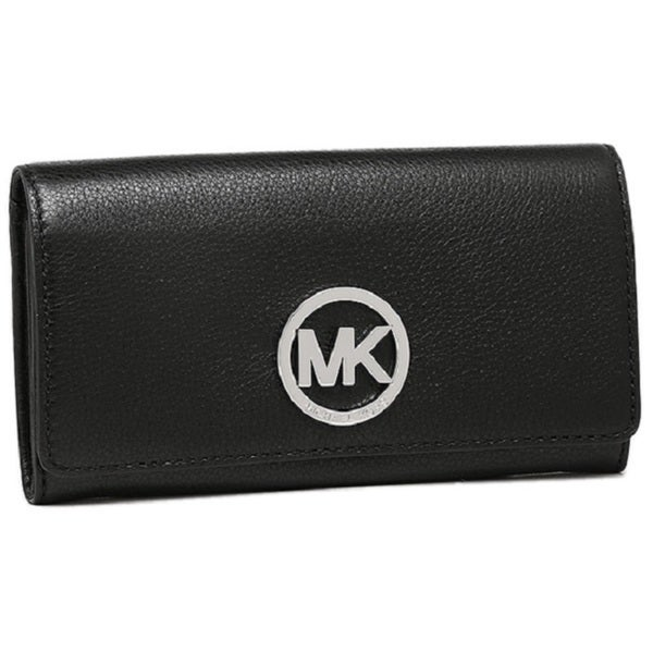 73ab0d9b4432 Shop Michael Kors Black Fulton Leather Carryall Wallet - Free ...