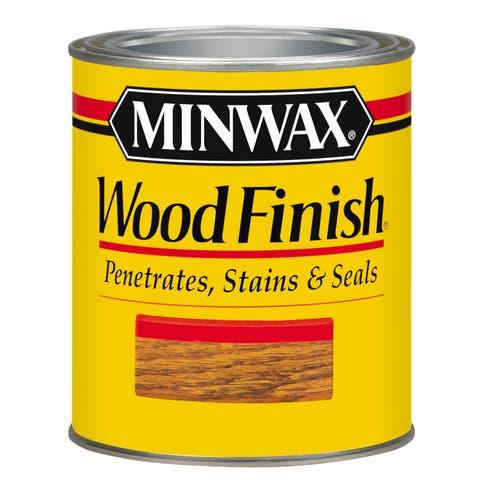 Minwax 22718 1/2 Pint Ebony Wood Finish Interior Wood Stain