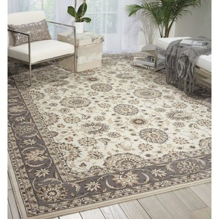 Nourison Persian Crown Ivory/Grey Area Rug (5'3 x 7'4)