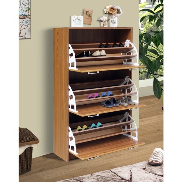 Amazing Deluxe Triple Shoe Cabinet