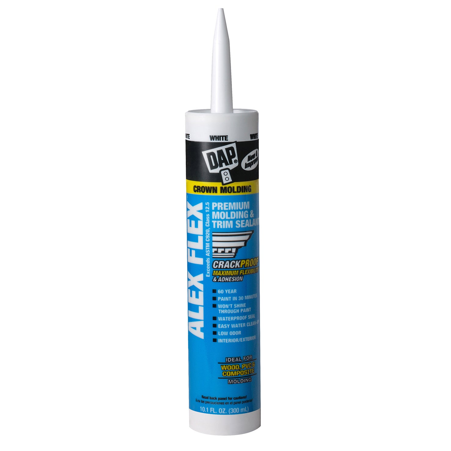 DAP 18542 10.1 Oz White Alex Flex Premium Molding & Trim ...