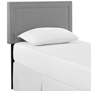Jessamine Twin Fabric Headboard in Light Gray