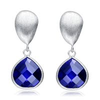 Collette Z Sterling Silver Rhodium Plated CZ Drop Earrings