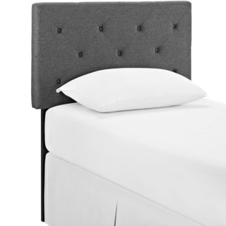 Terisa Tufted Grey Fabric Headboard