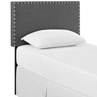 Phoebe Twin Fabric Headboard in Gray