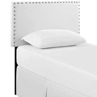 Phoebe White Vinyl Twin Headboard