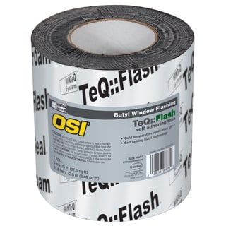 """OSI Sealants 1532159 6"""" X 75' Black WinteQ TeQ Flash Butyl Tape"""