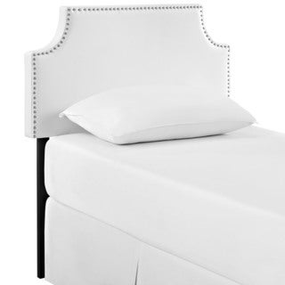 Laura Twin White Vinyl Headboard