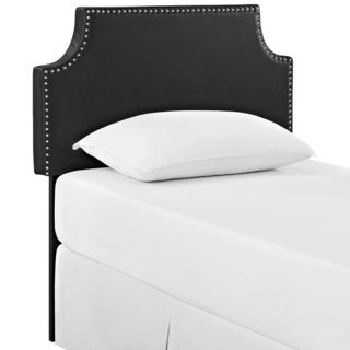 Laura Twin Vinyl Headboard in Black