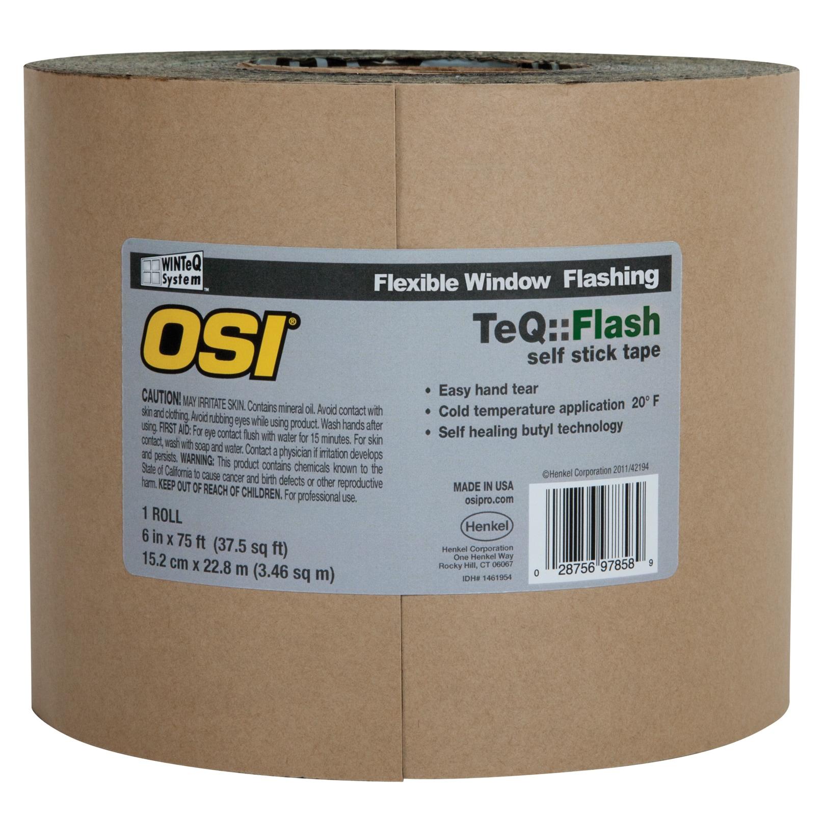 """OSI Sealants 1866211 6"""" X 100"""" Black WinteQ TeQ Flash Asp..."""