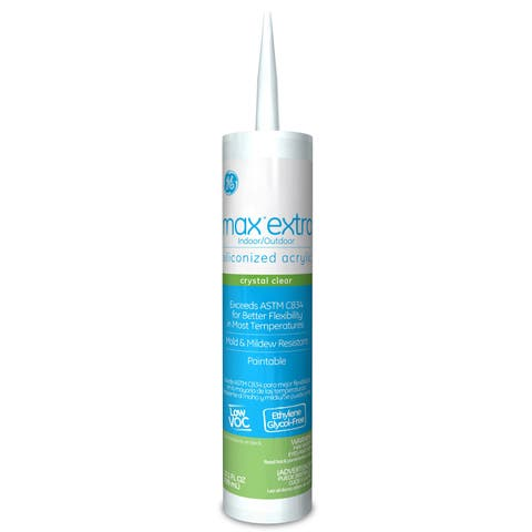 GE Silicone GE22608 Clear MAX 3500 Door, Window, Siding Acrylic Sealant
