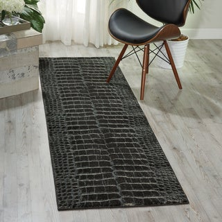 Nourison Maxell Charcoal Area Rug (2'2 x 7'6)