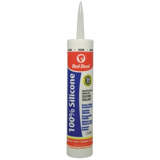 Red Devil 0826 100% Clear Silicone Sealant