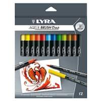 Lyra 6521120 Aqua Brush Duo Brush Painters Assorted Colors 12-count