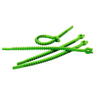 Q Knot UTW-QK20-GN 7-inches Green Q Knot Outdoor Reusable Rubber Ties 20-Count