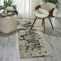 Nourison Maxell Ivory/Grey Area Rug - 2'2 x 7'6