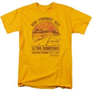 Forrest Gump/Ultra Marathon Short Sleeve Adult T-Shirt 18/1 in Gold