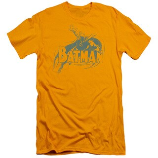 Batman/Here's Batman Short Sleeve Adult T-Shirt 30/1 in Gold