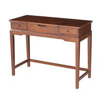 Solid Wood Vanity Table (Espresso Finish) - N/A