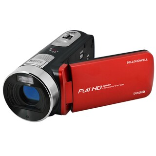 Bell and Howell DV50HD 1080p Full HD Video Camcorder with 20.0 MP Still Image Resolution and 3-inches Touch Screen LCD (Option: Red)