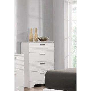 LYKE Home Moda White 4-drawer Wooden Chest of Drawers