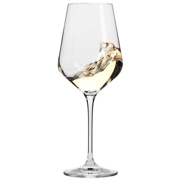 Krosno Hand-blown Vera 13-ounce Clear White Wine Glasses (Set of 6)
